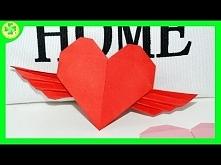 Filmik ukazujący proces powstawania serduszka origami ze skrzydełkami :)