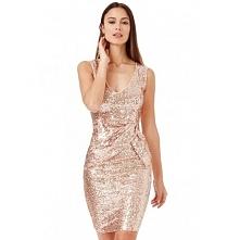 Złota cekinowa sukienka syl...
