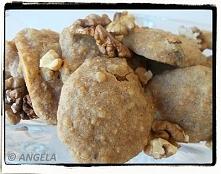 Ciastka jaglano-orkiszowe (bez cukru) z orzechami - po przepis, kliknij na foto