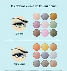 cienie do koloru oczu#zielone i niebieskie