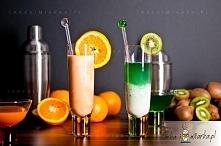 Zestaw kolorowych mieszadełek do drinków i koktajli z tworzywa akrylowego.