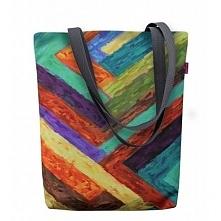 Płócienna torba w kolorowe paski. Świetna na plażę, basen czy tez piknik. Ide...