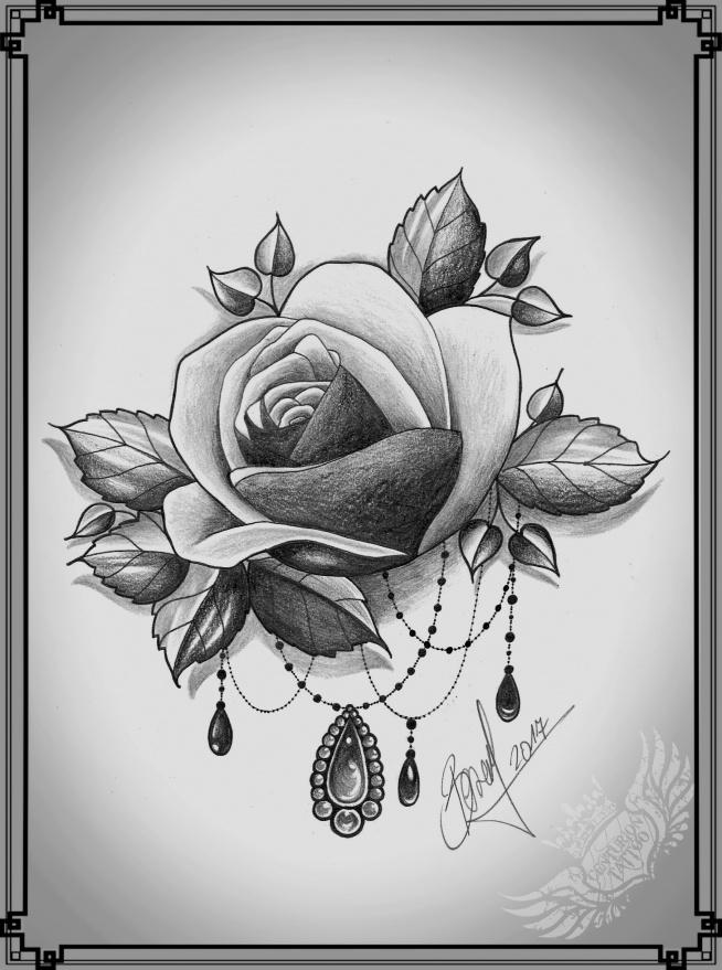 Róża Tatuaż Wzór Wieczorne Bazgrołki Na Centuriontattoo