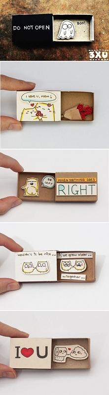 Artystyczne pudełko zapałek z wiadomością