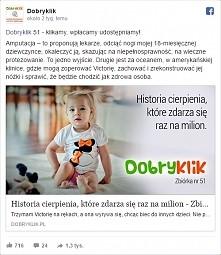 Uwaga! Każdy może pomóc! I nic nas to nie kosztuje. Wystarczy wejść na stronę dobryklik.pl i kliknąć ;) Im więcej kliknięć, tym więcej pieniędzy zostanie zebranych. Klikać można...