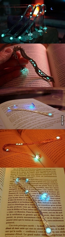 Świetna lampko-zakładka do książki :D