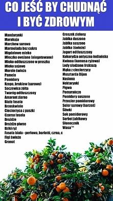 Co jeść by być zdrowym i szczupłym.