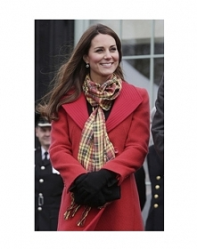 Szalik w kratkę? Co powiecie na ten, który ma na sobie Księżna Kate? Luksusow...