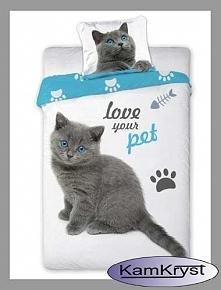 """I już ostatnia dziś nowość z kolekcji Zwierzęta - """"love your pet"""" - bawełniana pościel nie tylko dla najmłodszych."""