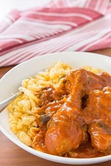 Chicken Paprikash (Paprikás Csirke), czyli po naszemu Kurczak w sosie papryko...