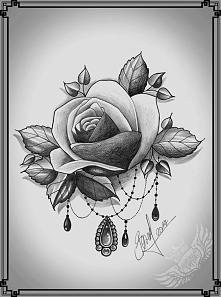 Róża tatuaż wzór-wieczorne ...
