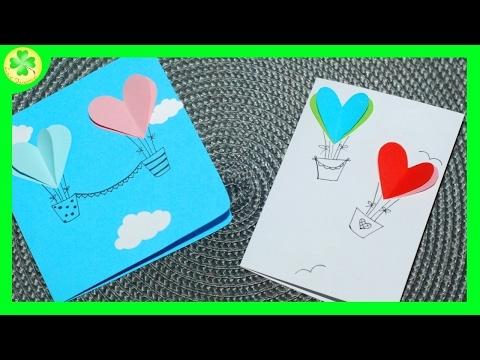 Filmik prezentujący sposób powstawania ślicznych kartek z balonami w kształcie serc