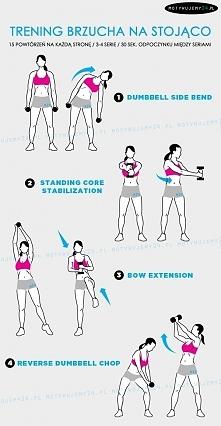 Trening brzucha na stojąco