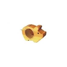 Zabawka Bajo 71820 - Drewniana Świnka Skarbonka - Naturalna, z drewna bukowego najlepszej jakości dla Dzieci od lat 2.  U góry świnka ma otwór, przez który można wrzucać pieniąż...