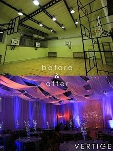 Przepiękna metamorfoza szkolnej sali gimnastycznej... w sale marzeń. Nie wiem...