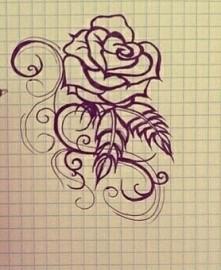 Na górze róża, na dole komentarze jeśli się spodoba to inny rysunek pokażę