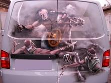 Aerografia na samochodzie, ...