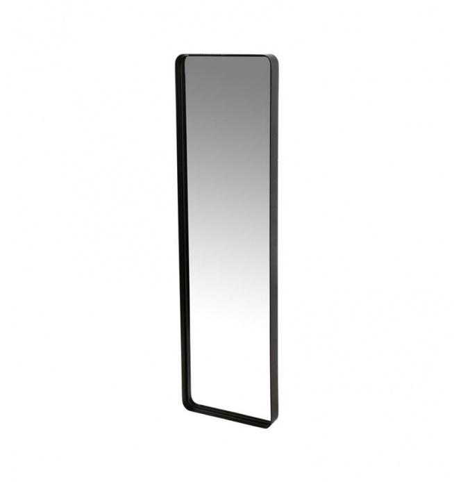 LUSTRO W METALOWEJ RAMIE 90X25 CM CZARNE  Stan: Nowy produkt  Lustro wiszące w metalowej czarnej ramie o wymiarach 25x90 cm w kształcie prostokąta. Wąskie lustro . Piękne lustro do łazienki, do salonu lub na korytarz.  Idealny dodatek do dekoracji i wystroju wnętrza. Z tyłu posiada zawieszki umożliwiające powieszenie na ścianie. Wysokość 90 cm Szerokość 25 cm Głębokość 4 cm Materiał metal Kolor czarny Przeznaczenie lustra na ścianę