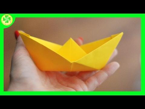 Filmik ukazujący sposób tworzenia papierowej łódki (vel statku) origami :)