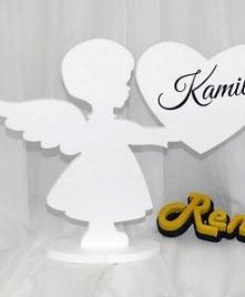 Aniołek z imieniem dziecka ...