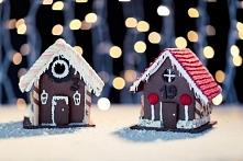 Bożonarodzeniowa ozdoba z piernika - urocze domki