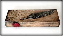 Elegancki, drewniany piórkn...