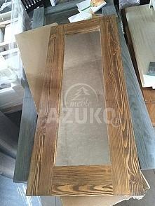 drewniane lustro strukturyzowane