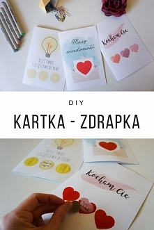 Miłosna kartka zdrapka DIY Idealna na Walentynki, rocznicę czy nawet urodziny. 3 wzory romantyczne kartki do druku