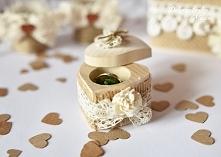 Rustykalne pudełeczko na pierścionek zaręczynowy