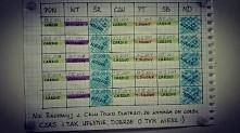Mój plan treningowy na najbliższe 5 tygodni ;3