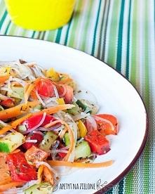 Makaron sojowy z warzywami