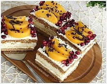 Ciasto Królewiec z brzoskwiniami (przepis klik w zdjęcie)