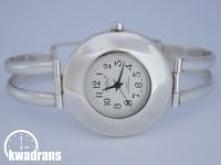 Zegarek srebrny - damska bi...
