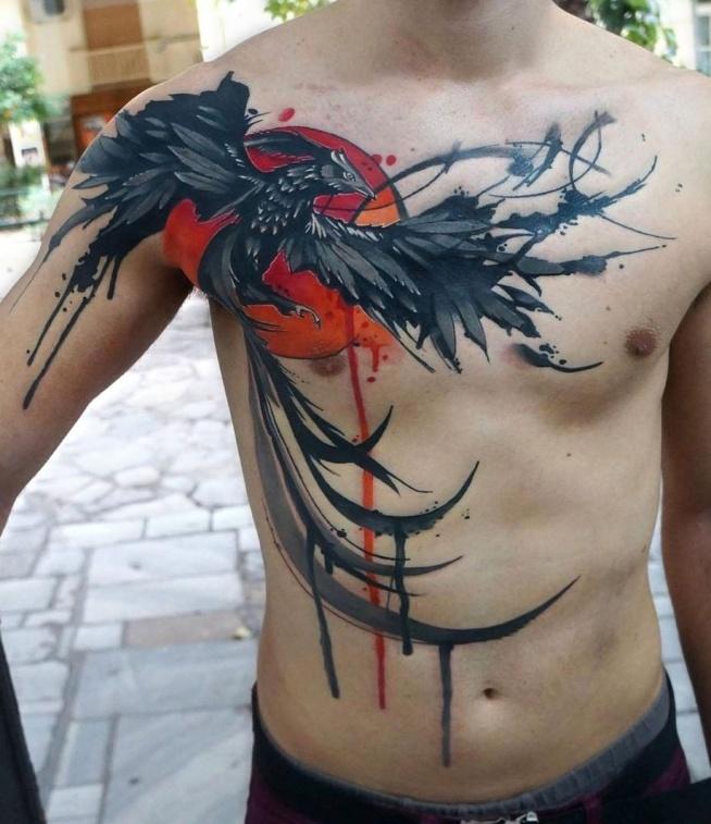 Feniks Na Klatce Piersiowej Na Tatuaże Zszywkapl