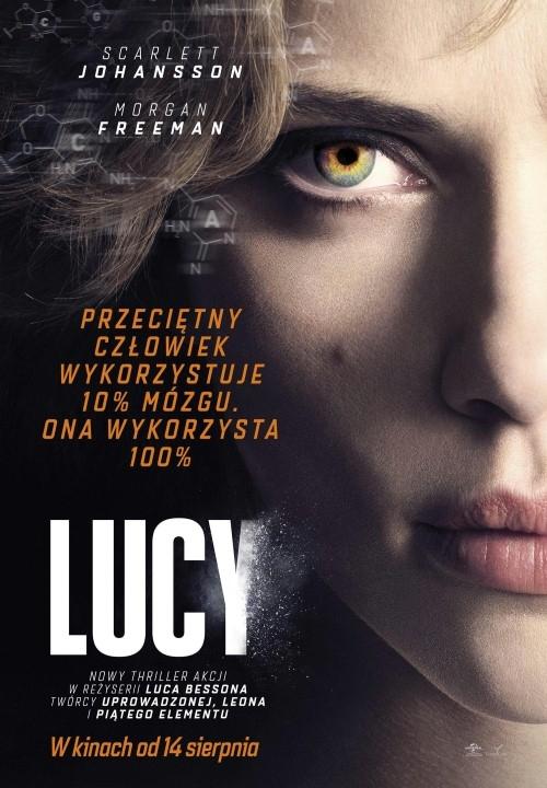 Lucy - niesamowicie poruszający wyobraźnię film, bardzo mi się podobał, jest akcje, jest fantasy, jest świat realny:) i śliczna Scarlett