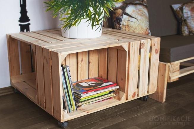 stolik kawowy diy ze skrzynek po owocach na urz dzanie. Black Bedroom Furniture Sets. Home Design Ideas