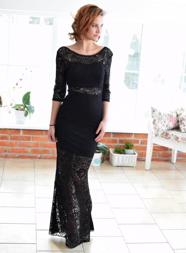 b1ee9e92f000f3 Koronkowa sukienka PATRIZIA. Długa, elegancka sukienka z koronk.. na ...