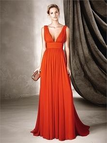 Romantic A-line V-neck Floaty Skirt Chiffon Prom Dress PD3375