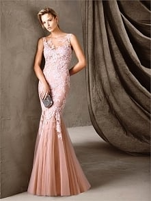 Sexy Long Mermaid Tulle and Lace Prom Dress PD3374