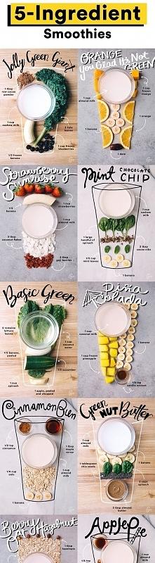 pięciu składnikowe smoothies