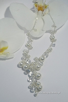 Naszyjnik, biżuteria na ślub