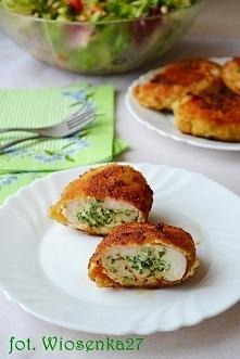 roladki z kurczaka z rikottą i szpinakiem, przepis po kliknięciu w zdjęcie.
