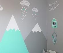 Pokój synka prawie gotowy. Góry malowałam sama