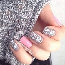 nails - zimowo..