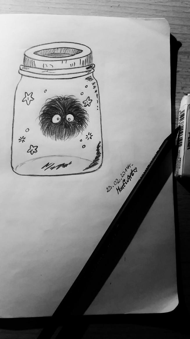 na rozruszanie ręki :) dawnooo nie rysowalam;o /wzorowane
