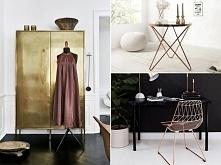 Złote dodatki - nadają luksusowego charakteru pomieszczeniom <3