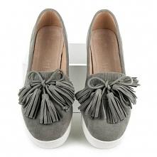 Szaro oliwkowe buty mokasyny Callie