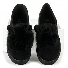 Czarne buty z uszami króliczka