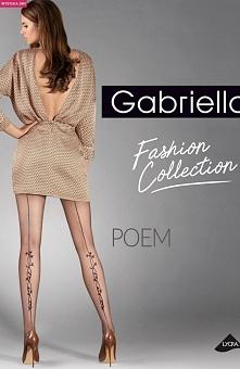 Gabriella Poem code 384 rajstopy Eleganckie damskie rajstopy, wykonane z włókna Lycra podwójnie oplecionego jedwabiem poliamidowym, bez wydzielonej części majteczkowej