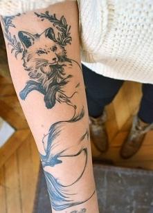 tatuaże zwierząt lis na ręce